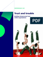 Trust and Trouble Building Interpersonal Trust Within Organizations