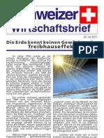 Schweizer Wirtschaftsbrief Juli 2011