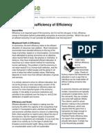 the insuffficiency of efficiency