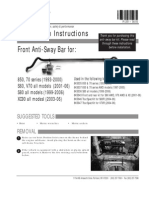 Front Sway Bar Installation Instructions