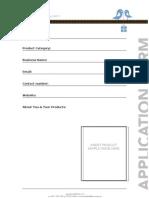 B+L Application Form