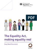 Equality Act 2010 Easy-read