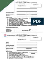 CAV Application Form