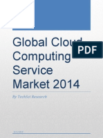 Global Cloud Computing Service Market Outlook 2014 - Sample