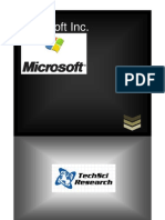Microsoft Inc. Company Profile & SWOT Analysis