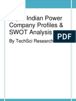 Top 9 Indian Power Company Profiles & SWOT Analysis