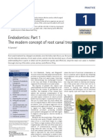 Endodontics Part 1 - The modern concept of root canal treatment