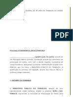 Contestação de Ação Civil Pública MPT Modelo
