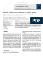 Application of Nano Structured CA Doped CeO2 for Ultraviolet Filtration