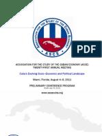 Programa de la XXI Reunión Anual de ASCE en Miami