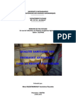Qualité sanitaire fromage Antsirabe
