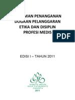Dody Firmanda 2011 - Komite Medik RSF - Pedoman Penanganan Dugaan Pelanggaran Etika dan Disiplin Profesi Medis