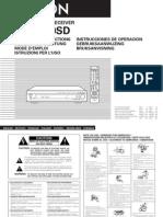 Denon AVR-770SD Use Manual