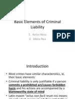 1. Basic Elements of Criminal Liability