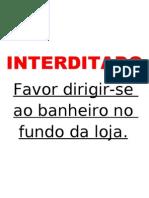 INTERDITADO