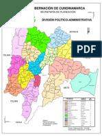 Municipios departamento de Cundinamarca