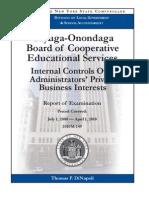 NYS Comptroller -- Cayuga-Onondaga BOCES Audit