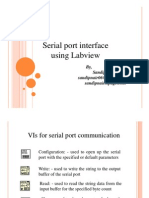 Serial Port Interface Using Labview