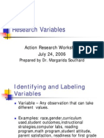 Action Research Variables 2006