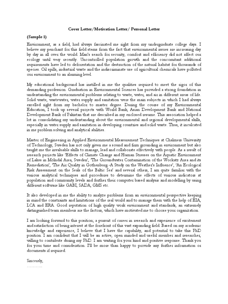 Samples of cover letter motivation letter personal motivation samples of cover letter motivation letter personal motivation letter pdf may 2 2008 7 01 pm lte telecommunication doctor of philosophy thecheapjerseys Images