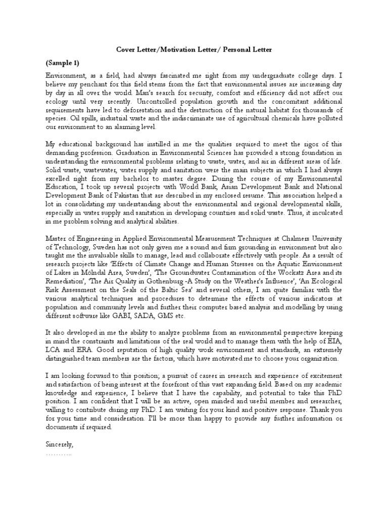 Samples of cover letter motivation letter personal motivation samples of cover letter motivation letter personal motivation letter pdf may 2 2008 7 01 pm lte telecommunication doctor of philosophy spiritdancerdesigns Gallery