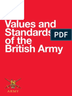 British Army Values