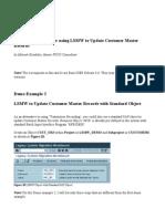 Pasos Para Usar LSMW ForoSAP