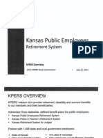 KPERS Overview Presentation by Glenn Deck to KPERS Study Commission on July 22