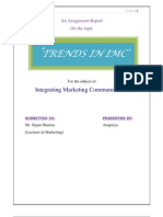 Trends in IMC-Marketing