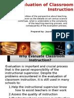 CHAPTER 4 Evaluation of Classroom Instruction - Joy