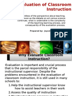 CHAPTER 4 Evaluation of Classroom Instruction - Joy