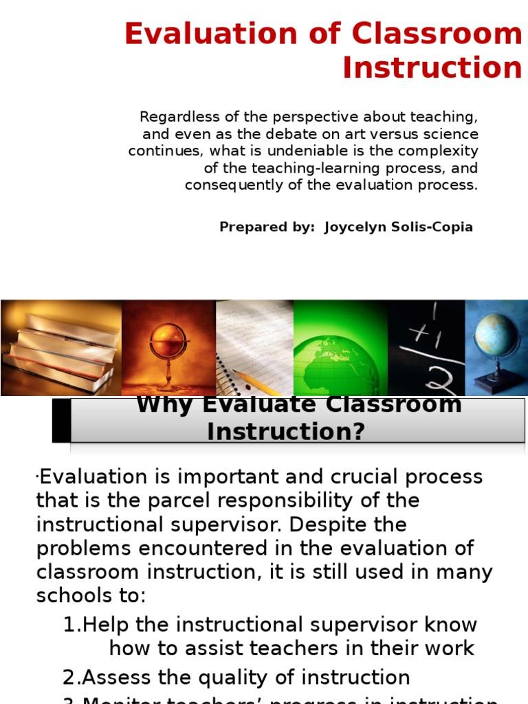 Chapter 4 Evaluation Of Classroom Instruction Joy Validity