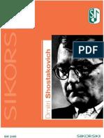 Shostakovich - Chronological List of Works