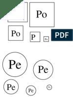 sylaba P i M_ kształty sekwencja