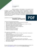 Oferta Laboral Analista de Proyectos