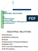 Industrial Relations Unit-I Session-II & III