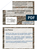 Lectura e interpretación de planos