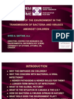 Role of the Environment in the Transmission of Bacteria and Viruses Amongst Children
