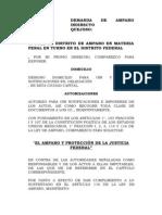 Demanda de Amparo Indirecto d.f.