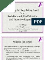 Asset Base Roll Forward or Re-Valuation - Dr Darryl Biggar
