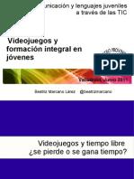Videojuegos y formación integral en jóvenes