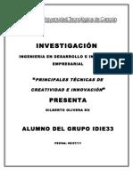 Investigacion de Tecnicas de Innovacion