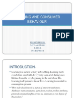Learning and Consumer Behaviour