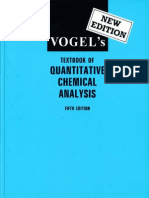 Vogel's - Textbook of Quantitative Chemical Analysis (5th Edition; Longmann)