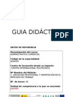Guia Didáctica M1 Ubicación Profesional y Orientación en el Mercado de Trabajo