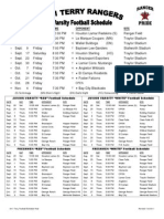 schedule bf terry football fall 2011