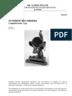 Manual do Heliógrafo Campbell-Stokes
