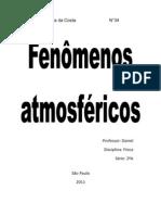 Fenomenos atmosféricos