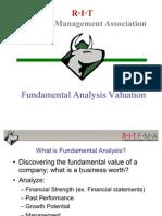 Fundamental Analysis Valuation