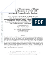 Comparison of Measurements of Charge Transfer Inefficiencies in a CCD with High-Speed Column Parallel Readout